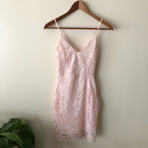NWT Charlotte Russe Pink Lace Dress